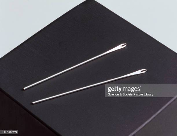 One of the most popular vaccination instruments used in medicine was the very simple bifurcated needle Developed in 1968 for the smallpox eradication...