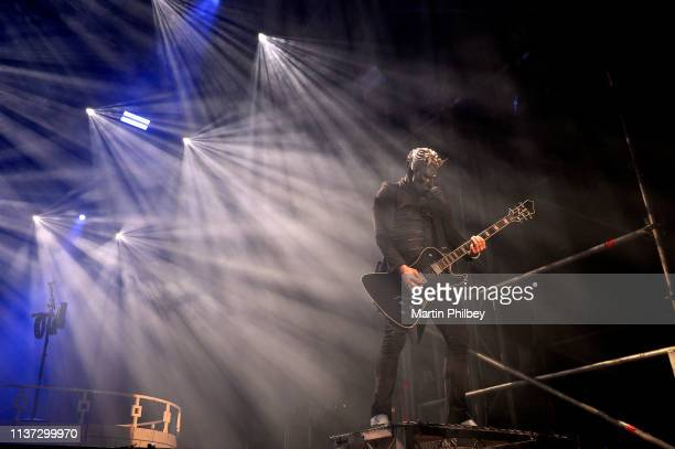 One of the 'Nameless Ghouls' guitarists from Ghost performs on stage at the Download Festival on 11th March 2019 in Melbourne Australia