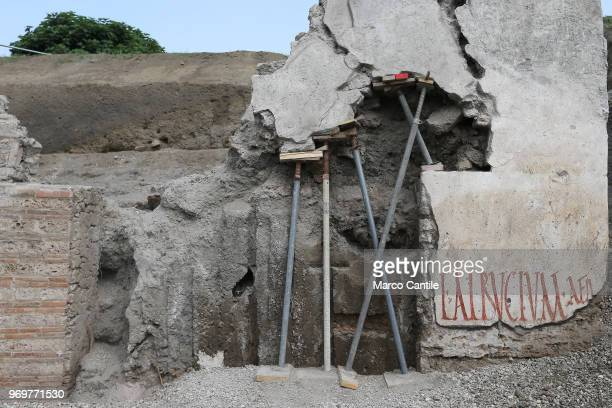 One of the new excavations that are part of the Regio V site of the Pompeii archaeological excavations