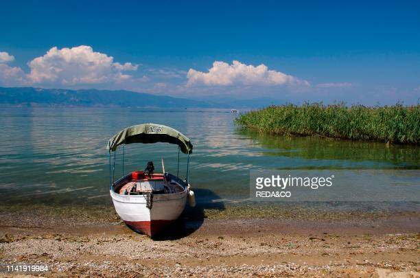 One of the Ohrid Lake beach near the monastery of Sveti Naum Macedonia Europe