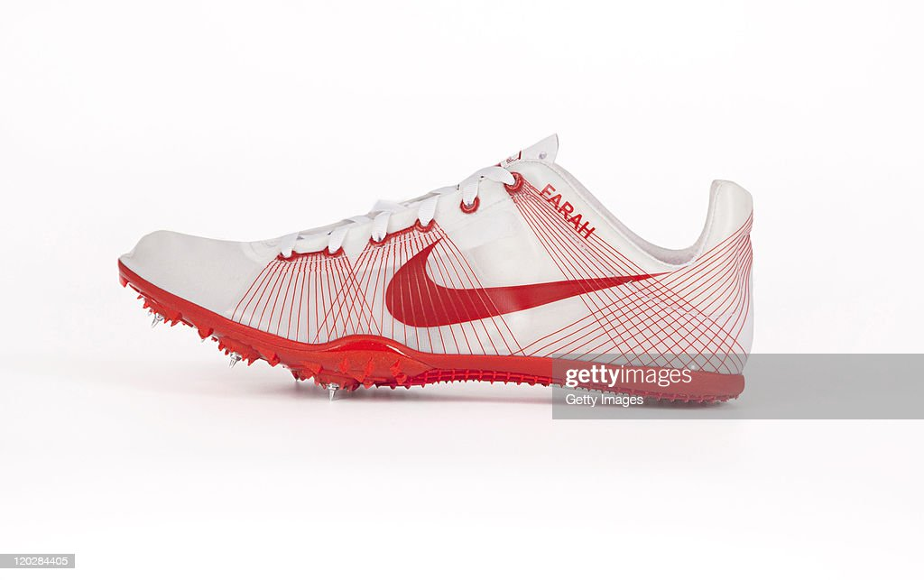 One of the pair of Nike Zoom Victory Spikes given to Mo Farah ahead of his
