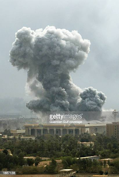 One of the Palaces in Baghdad is hit March 31 in Baghdad Iraq US bombing continues as coalition forces carry out an operation to oust Iraqi President...