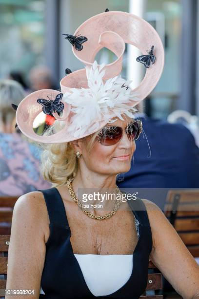 German actress Sandra Quadflieg during the Audi Ascot Race Day 2018 on August 19 2018 in Hanover Germany