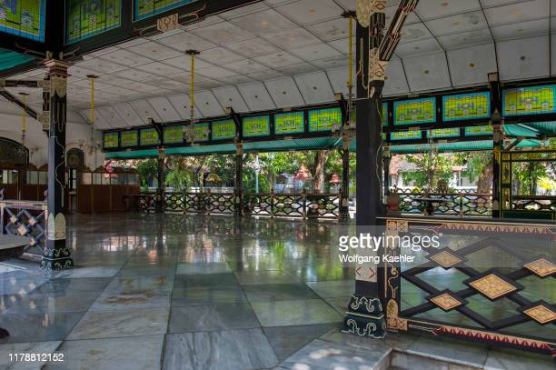 One of the pavilions at the Kraton of Yogyakarta , the Sultans palace complex in Yogyakarta, Java, Indonesia.