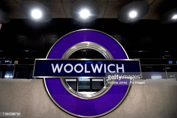 One of the platforms for the new Elizabeth Line at Woolwich station in east London as the latest developments in the Crossrail project continue to...