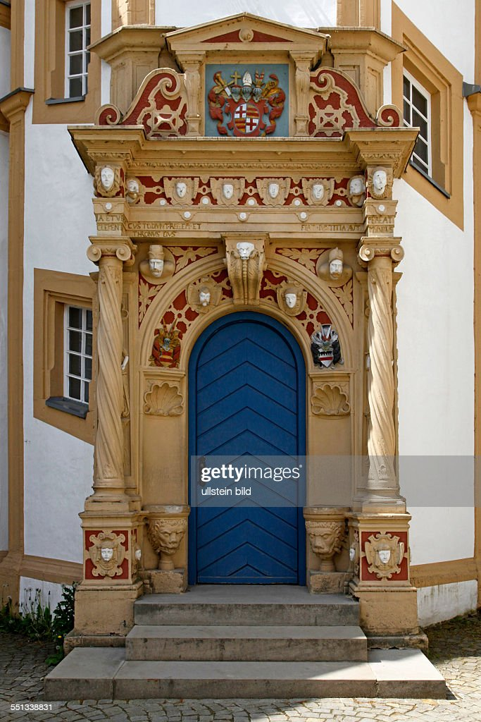 Number One Paderborn one of the portals of neuhaus castle paderborn pictures getty images
