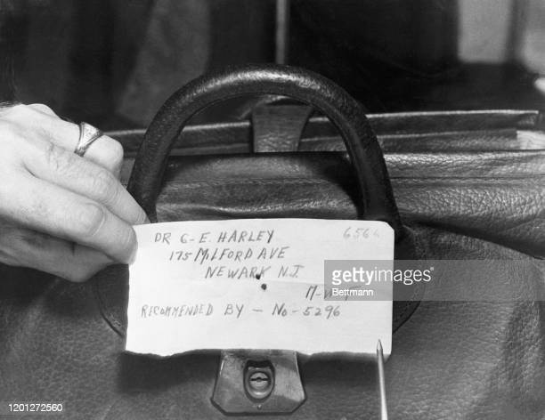 """One of the recommendation slips found in """"Anti-Stork"""" club, the abortion hospital, after a raid at 175 Milford Avenue, Newark, NJ."""