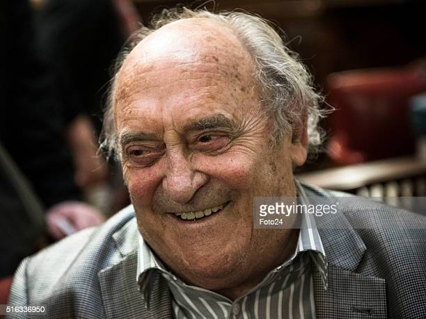 One of the Rivonia Trial defendants Denis Goldberg during the handing over of the digital audio recordings from the Rivonia Trial on March 17 2016 in...