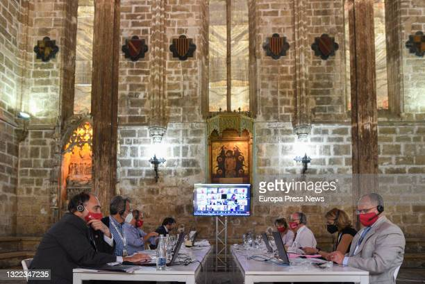 One of the rooms of the deliberation of the juries of the 33rd edition of the Rei Jaime Awards in the Old Convent of Santo Domingo, on 7 June, 2021...
