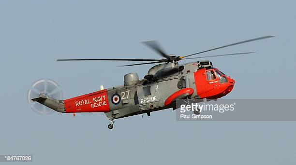 One of the Royal Navy Sea King helicopters from the UK. Seen here at the 2013 RAF Waddington airshow in Lincolnshire.