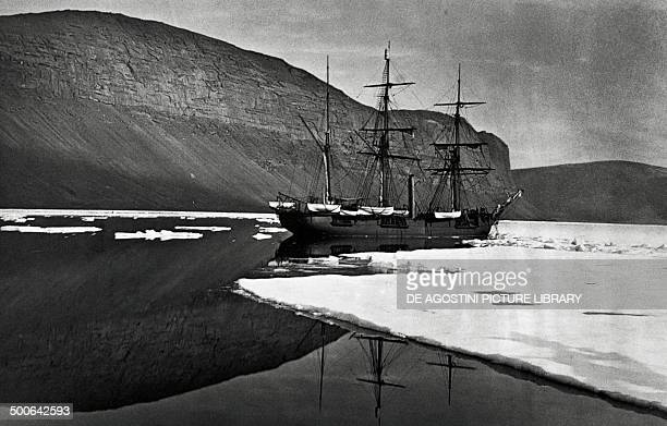 One of the ships from Sir George Nares's Arctic expedition which was stopped by ice at Cape Prescott 18751876 Canada 19th century Yellowknife Prince...