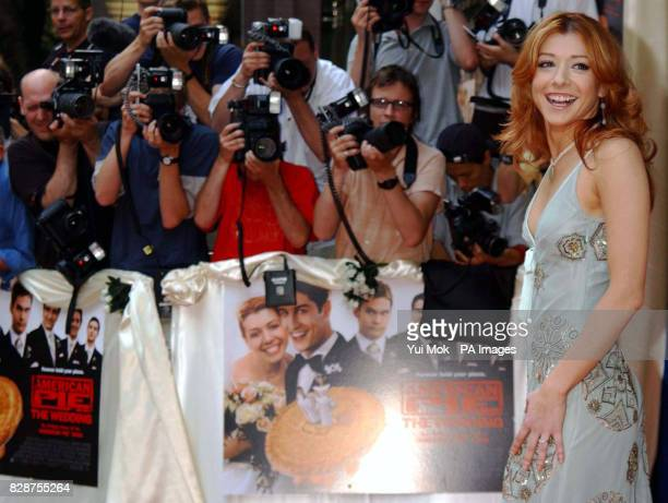 One of the stars of the film Alyson Hannigan arriving at the Odeon Covent Garden in London's Shaftesbury Avenue for the UK premiere of American...