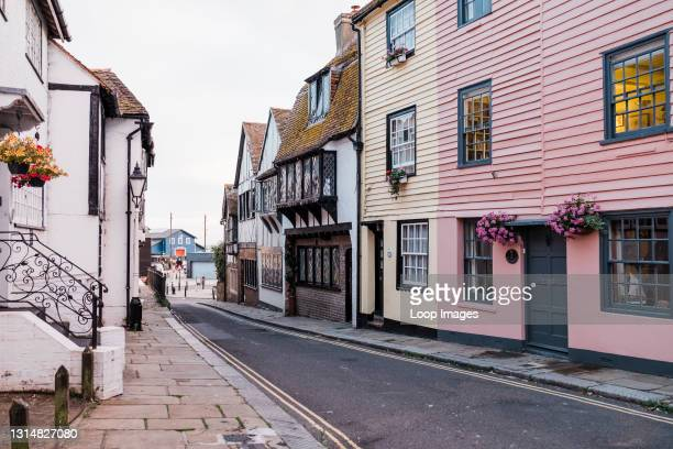 One of the streets in Hastings Old Town.