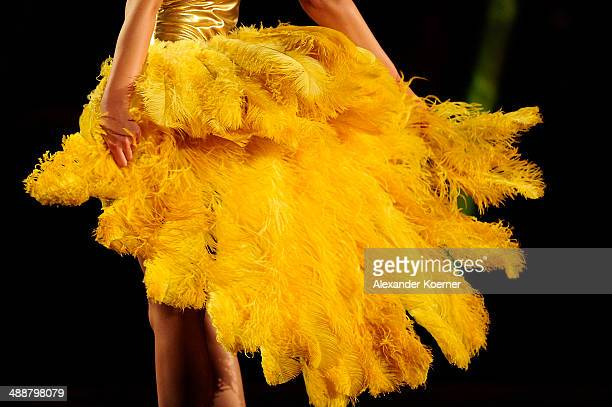One of the three models Stefanie Giesinger is pictured during the final of Germany s Next Top Model TV show at Lanxess Arena on May 8 2014 in Cologne...