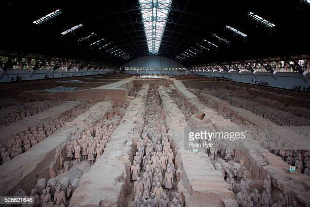 One of the tombs of the Terracotta Warriors at the Terracotta Warriors Museum just outside of Xian The Terracotta Warriors and Horses are the most...