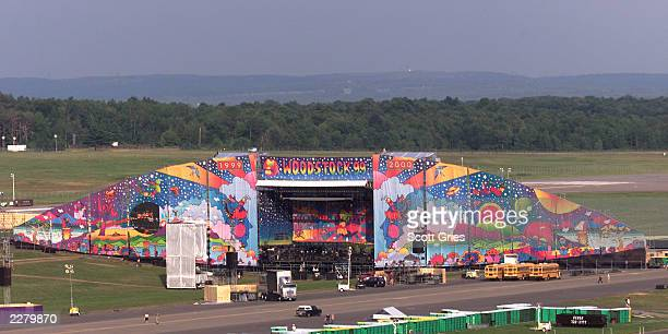 One of the two main stages at the site of Woodstock 99 in Rome New York The Woodstock 99 30th Anniversary Concert takes place on July 23 and 25th and...