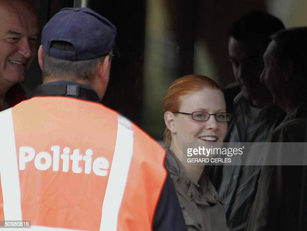 One of the victims of Belgian pedophile Marc Dutroux Laetitia Delhez arrives the courthouse in the southeastern Belgian town of Arlon 21 June 2004...