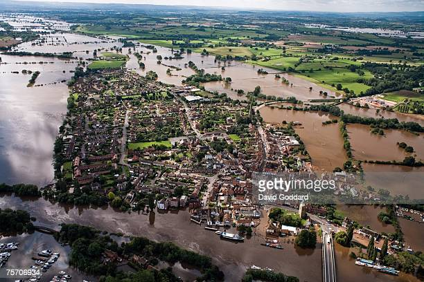 One of the worst floods to hit the Vale of Gloucester leaves thousands without water and electricity following the recent summer storms on July 24...