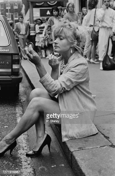 One of the young women lining up for the Bucks Fizz auditions at the Prince of Wales Theatre in London UK 21st June 1985 They are hoping to replace...