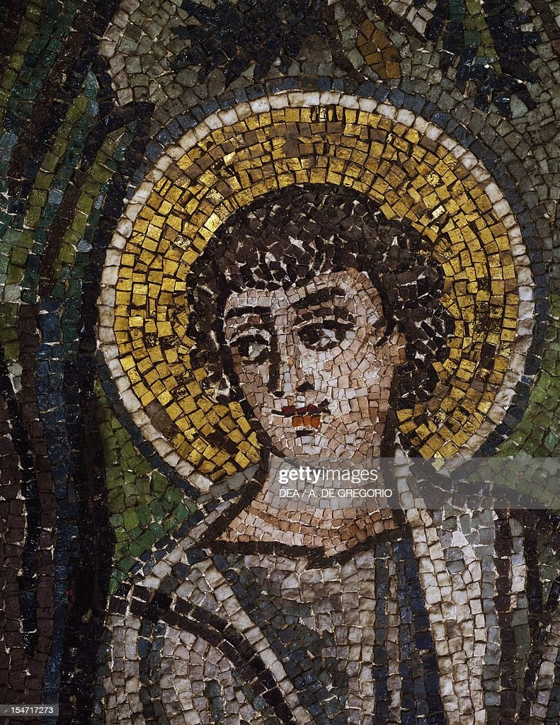 One of three angels' faces coming to Abraham... : News Photo