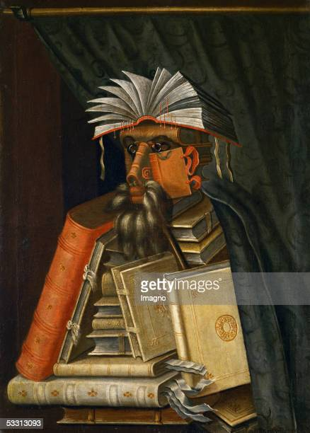 One of three copies of 'The Librarian' originally by Italian artist Giuseppe Arcimboldo circa 1566 The attribution of the copies is unknown [The...