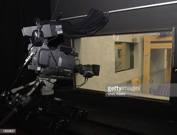 "One of twenty-eight cameras behind a two-way mirror is set up for the new reality-based show ""Big Brother"" debuting on CBS July 5, 2000. ""Big..."