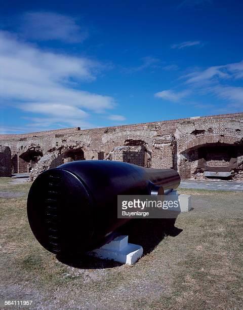 One of two 50000pound Rodman guns remaining as exhibits at Fort Sumter Charleston South Carolina