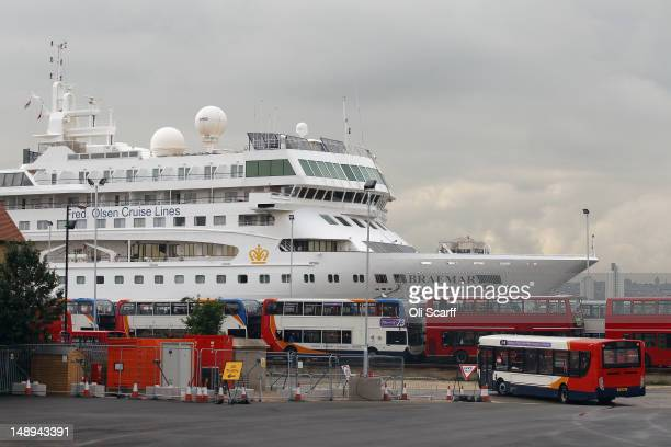 One of two cruise liners the Braemar and the Gemini which are moored in the Royal Albert Dock to provide accommodation for thousands of Olympic...
