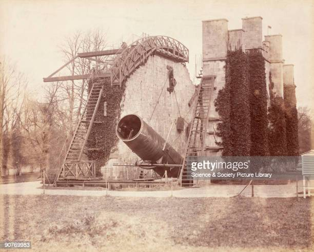 One of two photographs showing views of the Great Rosse telescope, taken by Lieutenant Colonel Harry J Watson, whilst he was posted to nearby...