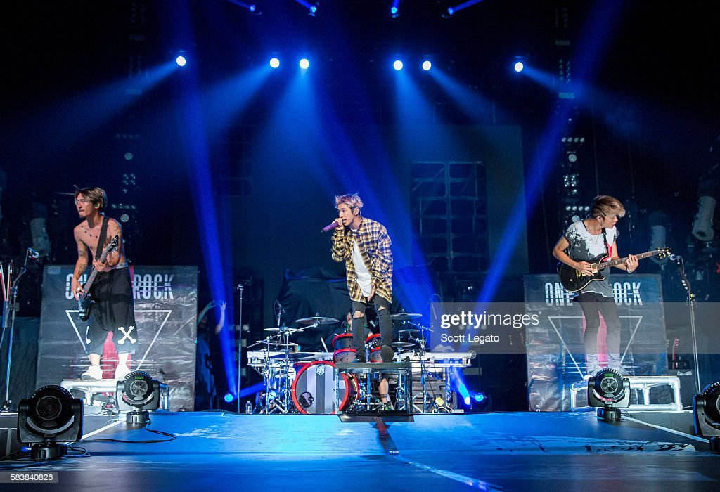 One OK Rock perform at The Palace of Auburn Hills on July 27, 2016 in Auburn Hills, Michigan.