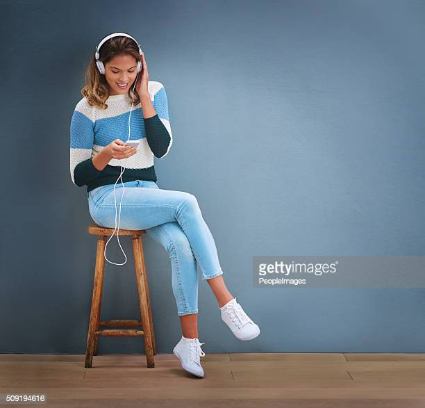 One on one time with her favourite music