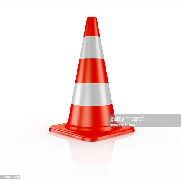 one orange traffic cone - traffic cone stock pictures, royalty-free photos & images