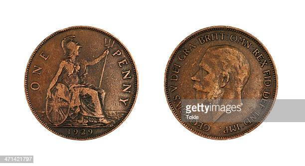 one penny of 1929 - 1920 1929 stock pictures, royalty-free photos & images