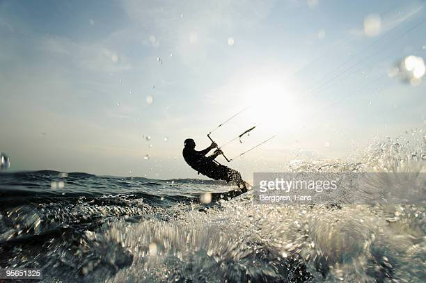One person kite-surfing, Sweden.
