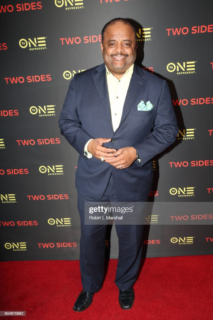 TV One Personality Roland Martin attends the NAACP Screening and Social Justice Summit for TV One's 'Two Sides' at First AME Church on January 13, 2018 in Los Angeles, California.