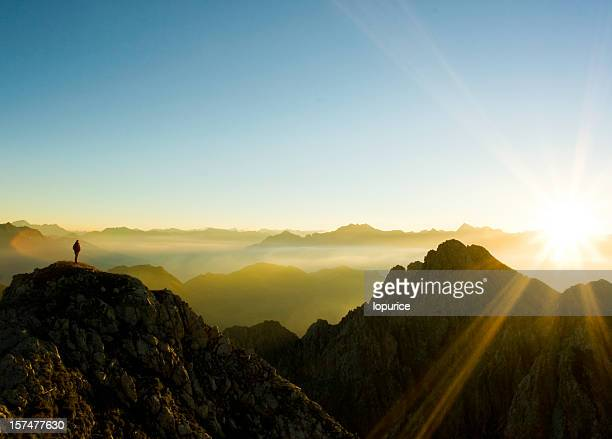 man - mountain peak stock pictures, royalty-free photos & images