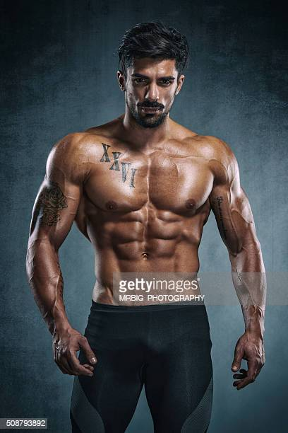 man - handsome bodybuilders stock photos and pictures