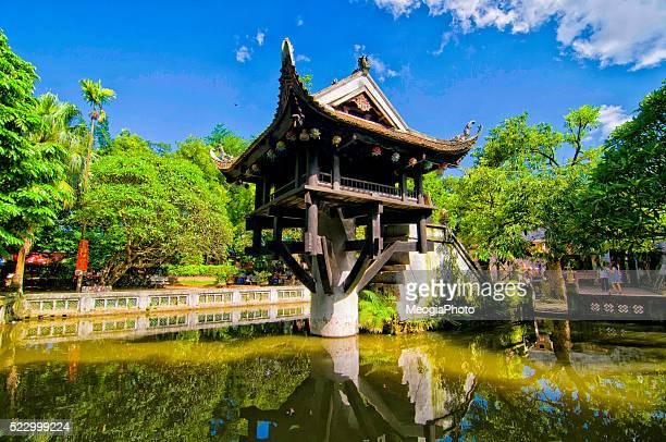 one pillar pagoda in hanoi, vietnam - hanoi stock pictures, royalty-free photos & images