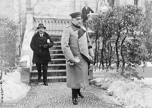 One Popular Idol of Germany A recent photo of Field Marshal Von Hindenburg once the popular idol of Germany and leader of the imperial armies against...