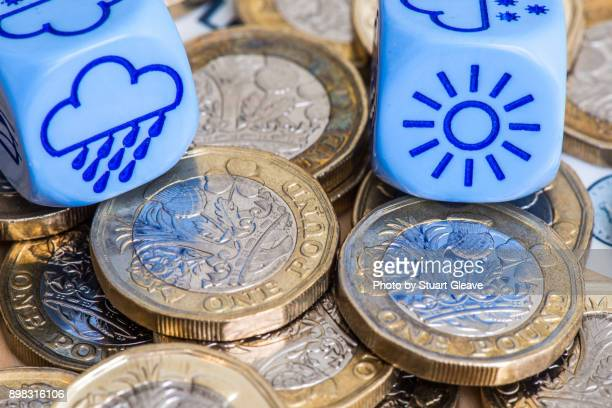 'One Pound' (£1 coins) mixed economic forecast