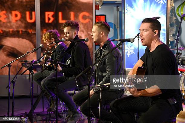 AMERICA One Republic performs on GOOD MORNING AMERICA 12/12/14 airing on the Walt Disney Television via Getty Images Television Network