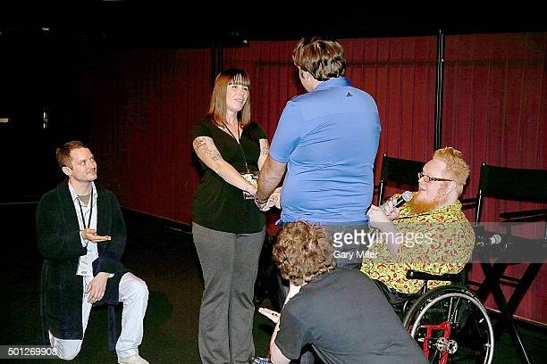 One ring bearer Elijah Wood Bride Lola Cutter Hensel Groom George Hickman other ring bearer Jay Giovanni Ramirez'Knowles and Officiant Harry Knowles...