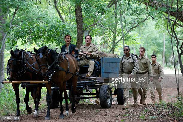 REVOLUTION One Riot One Ranger Episode 205 Pictured Nicole Ari Parker as Secretary Justine Allenford Giancarlo Esposito as Major Tom Neville