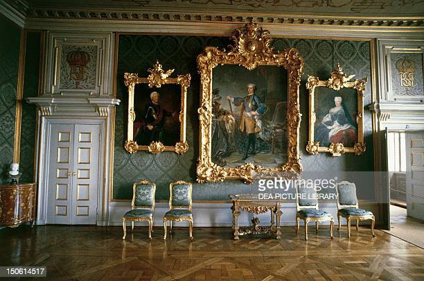 One room in Drottningholm Palace Sweden 17th century