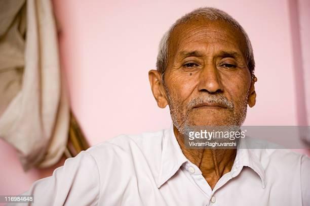 One Senior Rural Indian Man