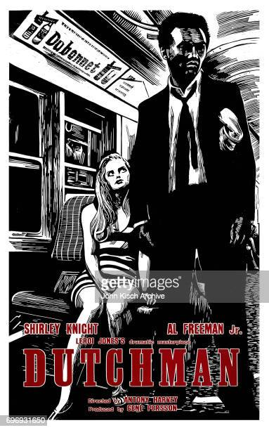 One Sheet movie poster advertises 'Dutchman' starring Al Freeman Jr and Shirley Knight 1967 It was an adaptation of playwright Leroi Jones' oneact...