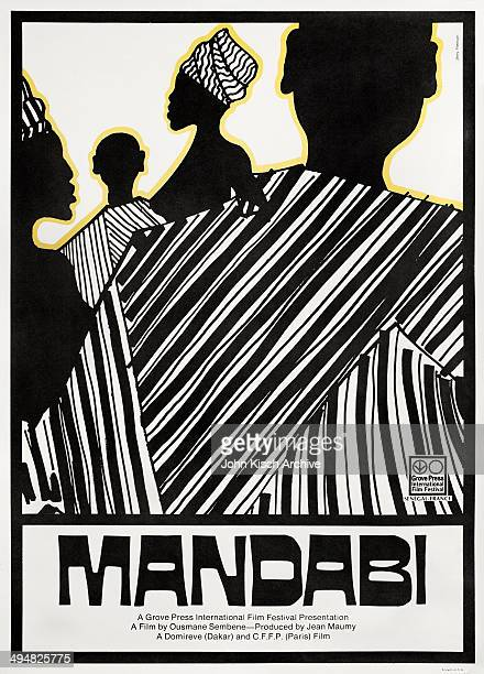 One sheet movie poster advertises 'Mandabi' a Senegalese drama directed by Ousmane Sembene 1968