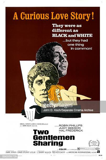 One Sheet movie poster advertises 'Two Gentlemen Sharing' starring Hal Frederick Earl Cameron and Esther Anderson London England 1969
