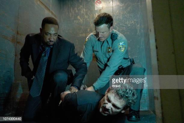 JOHN One Shoe Episode 106 Pictured Damon Gupton as Detective Dennis Luken Eric Bana as John Meehan