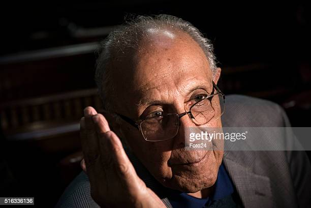 One South Africas Rivonia Trial defendants Ahmed Kathrada during the handing over of the digital audio recordings from the Rivonia Trial on March 17...